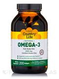 Omega-3 1000 mg Fish Oil - 200 Softgels