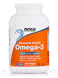 Omega-3 (Molecularly Distilled) 500 Softgels