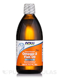 Omega-3 Fish Oil, Lemon Flavored - 16.9 fl. oz (500 ml)