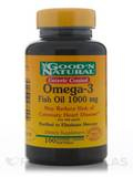 Omega-3 (Natural Fish Oil) 1000 mg 100 Softgels