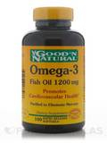 Omega-3 (Natural Fish Oil) 1200 mg - 100 Softgels