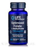 Optimized Folate (L-Methylfolate) 1000 mcg 100 Vegetarian Capsules