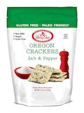 Oregon Crackers, Salt & Pepper Flavor - 5.3 oz (150 Grams)