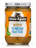 Organic Creamy Roasted Almond Butter - Unsweetened & Salt Free - 16 oz (454 Grams)