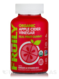 Organic Apple Cider Vinegar Real Fruit Gummy, Mixed Fruit Flavor - 60 Gummies