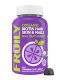 Organic Biotin Hair, Skin & Nails Gummies, Mixed Fruit Flavor - 60 Gummies