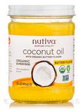 Organic Coconut Oil, Buttery Flavor - 14 fl. oz (414 ml)