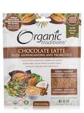 Organic Chocolate Latte with Ashwagandha and Probiotics - 5.3 oz (150 Grams)