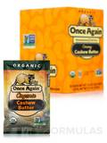 Organic Cashew Butter - Unsweetened & Salt Free - Creamy - BOX OF 10 PACKS (1.15 oz / 32 Grams each)