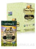 Organic Peanut Butter - Unsweetened & Salt Free - Creamy - BOX OF 10 PACKS (1.15 oz / 32 Grams each)