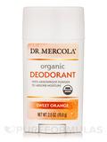 Organic Deodorant, Sweet Orange - 2.5 oz (70.8 Grams)