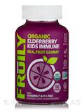 Organic Elderberry Kids Immune Real Fruit Gummy, Mixed Fruit Flavor - 50 Gummies