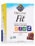 Organic Fit High Protein Weight Loss Bar, Chocolate Almond Brownie - Box of 12 Bars (1.9 oz / 55 Gra