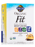 Organic Fit High Protein Weight Loss Bar, Chocolate Coconut Almond - Box of 12 Bars (1.9 oz / 55 Gra