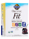 Organic Fit High Protein Weight Loss Bar, Chocolate Covered Cherry - Box of 12 Bars (1.9 oz / 55 Gra