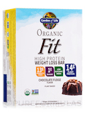 Organic Fit High Protein Weight Loss Bar, Chocolate Fudge - Box of 12 Bars (1.9 oz / 55 Grams Each)