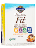 Organic Fit High Protein Weight Loss Bar, Salted Caramel Chocolate - Box of 12 Bars (1.94 oz / 55 Gr