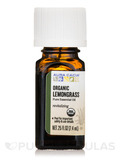 Organic Lemongrass Essential Oil - 0.25 fl. oz (7.4 ml)