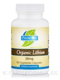 Organic Lithium 30 mg - 100 Vegetarian Capsules