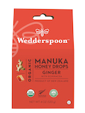Organic Manuka Honey Drops, Ginger with Echinacea - 4 oz (120 Grams)