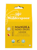 Organic Manuka Honey Drops, Lemon with Bee Propolis - 4 oz (120 Grams)