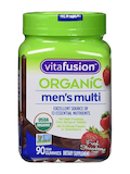 Organic Men's Multi Gummy, Fresh Strawberry Flavor - 90 Vegan Gummies