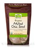NOW® Real Food - Organic Milled Black Chia Seeds - 10 oz (284 Grams)