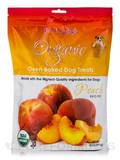 Organic Oven Baked Dog Treats, Peach Flavor - 14 oz (397 Grams)
