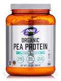 NOW® Sports - Organic Pea Protein Natural Unflavored - 1.5 lbs (680 Grams)