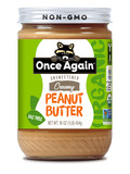 Organic Creamy Peanut Butter (No Salt Added) 16 oz (454 Grams)