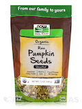 NOW Real Food® - Organic Pumpkin Seeds, Raw, Unsalted - 12 oz (340 Grams)