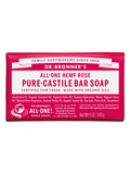Organic Pure Castile Hemp Rose Bar Soap 5 oz