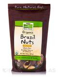 NOW Real Food® - Brazil Nuts (Unsalted, Whole, Raw, Organic) - 10 oz (284 Grams)