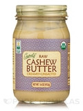 Organic Raw Cashew Butter, Unsalted - 16 oz (453 Grams)