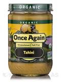 Organic Tahini - Unsweetened & Salt Free - 16 oz (454 Grams)