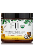 Certified Organic Whole Body Coconut Oil Infused Sugar Scrub, Pineapple Coconut - 20 fl. oz (591 ml)
