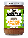 Organic Sunflower Seed Butter - Unsweetened & Salt Free - 16 oz (454 Grams)