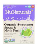 Organic Sweetener Stevia and Monk Fruit (Packets) - Box 35 Packets (1.24 oz / 35 Grams)