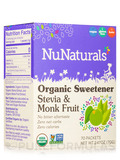 Organic Sweetener Stevia and Monk Fruit - Box of 70 Packets (2.47 oz / 70 Grams)