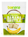 Organic Toasted Coconut Banana Brittle - 3.5 oz (100 Grams)