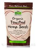 NOW® Real Food - Organic Toasted Hemp Seeds with Sea Salt - 12 oz (340 Grams)