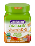 Organic Vitamin D3 Gummy, Citrus & Berry Flavor - 90 Vegetarian Gummies