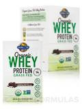 Organic Whey Protein Grass Fed, Chocolate Cacao - Box of 10 Packets (1.17 oz / 33 Grams each)