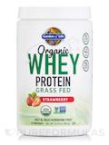 Organic Whey Protein Grass Fed, Strawberry - 13.88 oz (393.5 Grams)