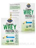 Organic Whey Protein Grass Fed, Vanilla - Box of 10 Packets (1.11 oz / 31.5 Grams each)