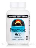 Pantothenic Acid 100 mg - 250 Tablets
