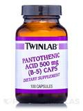 Pantothenic Acid (B-5) Caps 500 mg - 100 Capsules