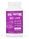 Beef Liver Capsules 750 mg (Pasture-Raised) - 120 Capsules
