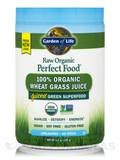 Perfect Food® RAW 100% Organic Young Wheat Grass Juice Powder - 4.2 oz (120 Grams)