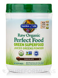 Raw Organic Perfect Food® Green Superfood Juiced Greens Powder, Chocolate Cacao Flavor - 23.8 oz (67